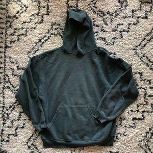Dark green hoodie sweatshirt
